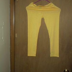 Yellow leggings